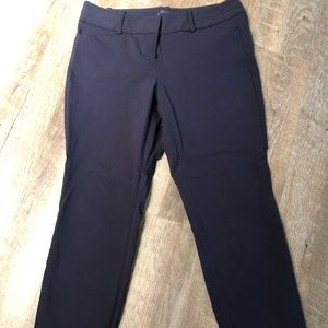 Navy Exact Stretch pants ankle length